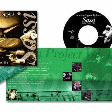 Andrea Coppini Quintet - Progetto grafico Cd label e sito flash