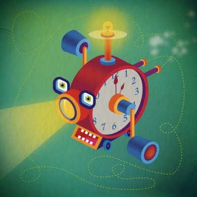 Time eating Toy - aprile 2021 - illustrator and Photoshop