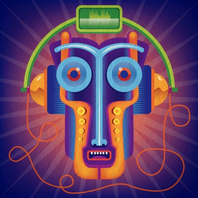 Bass in ear - aprile 2021 - illustrator and Photoshop
